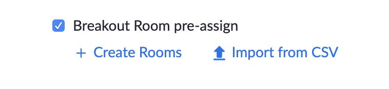 Breakout Room Pre-Assign