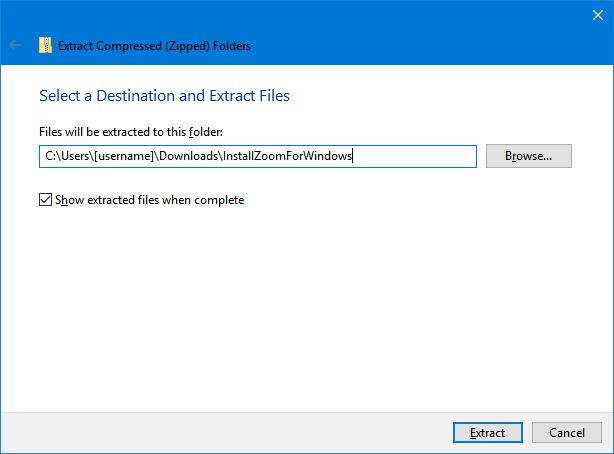 Choosing a file location